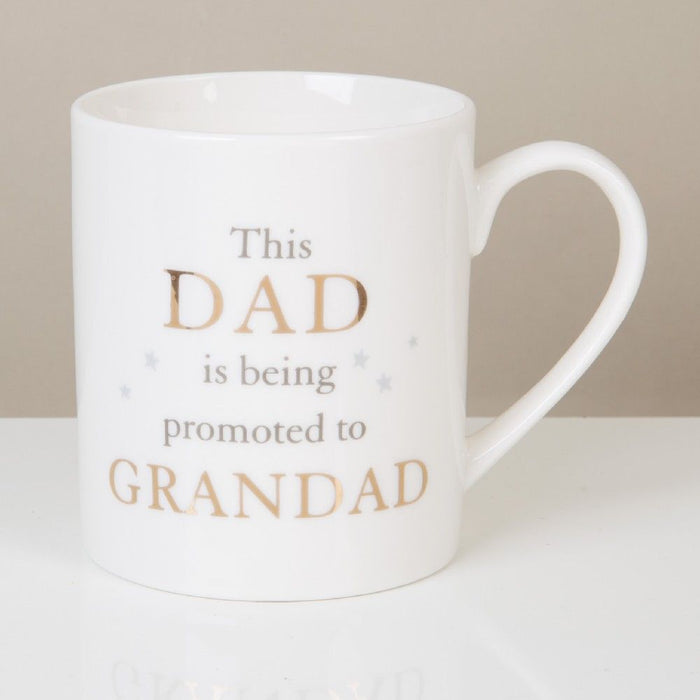 Bambino Bone Chine Mug - Dad Promoted To Grandad