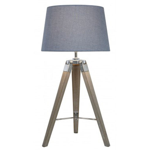 Natural Grey Hollywood Table Lamp With Grey Shade