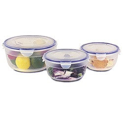 3 pc Round Food Container Set