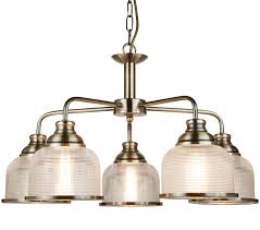 Bistro II - 5 Lights Ceiling Antique Brass