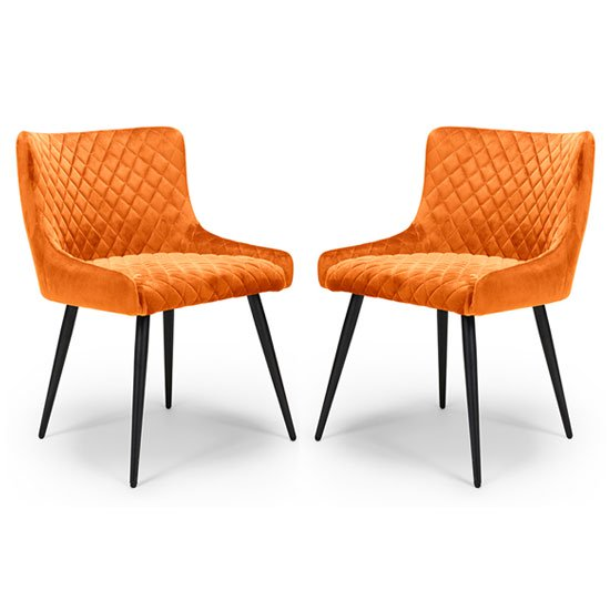 Malmo Dining Chair – Burnt Orange