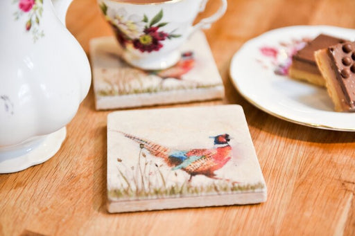 Pheasant in Grass Coasters