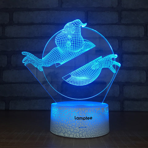 Crack Lighting Base Anime Ghostbusters 3D Illusion Lamp Night Light 3DL1790