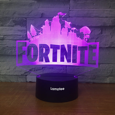 Image of Anime Fortnite 3D Illusion Lamp Night Light 3DL2529