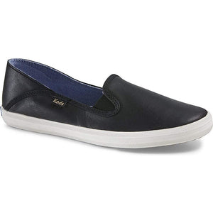 Keds Women's Crashback Leather Fashion Sneaker,New Black,8 M US - crazyshoedeals.com