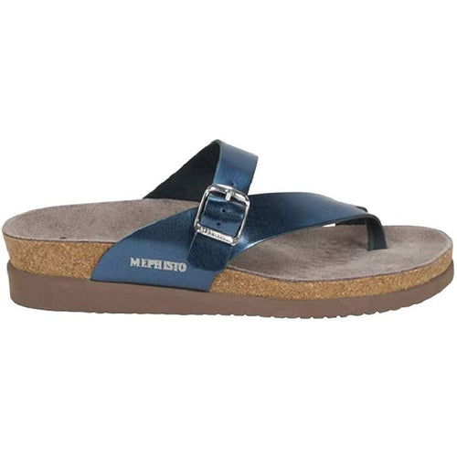 Mephisto Women's Helen Sandals Blue Star Metallic Leather - crazyshoedeals.com