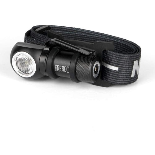 NEBO REBEL Tactical Head Lamp: Small enough to fit in the palm of your hand, this powerful Rechargeable Head Light rebels against its size with its impressive 600 lumen output and 4 Working Modes