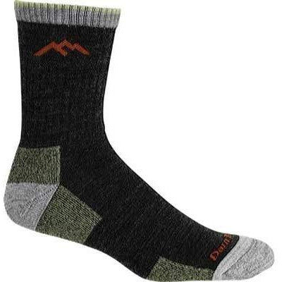 Darn Tough Vermont Micro Crew Sock Cushion 1466 Socks,Lime,XL - crazyshoedeals.com