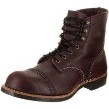 "Load image into Gallery viewer, Red Wing Heritage Men's Iron Ranger 6"" Vibram Boot (9.5 M US, Oxblood Mesa) - crazyshoedeals.com"