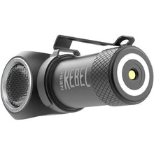 Load image into Gallery viewer, NEBO REBEL Tactical Head Lamp: Small enough to fit in the palm of your hand, this powerful Rechargeable Head Light rebels against its size with its impressive 600 lumen output and 4 Working Modes - crazyshoedeals.com