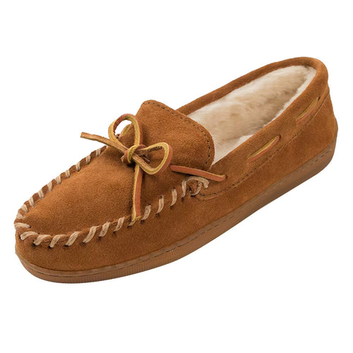 Minnetonka Men's Pile Lined Hardsole Slipper - crazyshoedeals.com