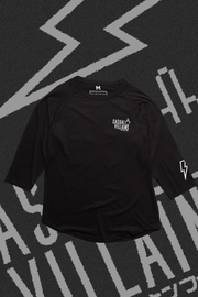 CASUAL VILLAINS RAGLAN - BLACK
