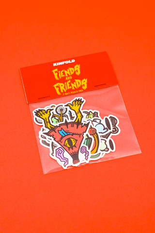 FIENDS & FRIENDS VINYL STICKER PACK