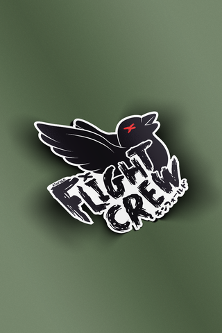 FLIGHT CREW VINYL STICKER