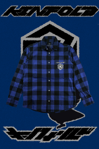 YATAGARASU NO TSUKI CHECKERED BUTTON UP [AOI]