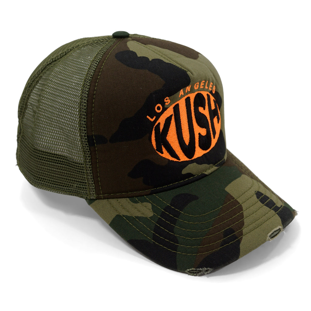 LAK Trucker Hat (Neon Orange)