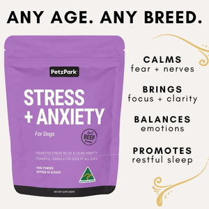 benefits of calming product for dogs. relaxes, decreases stress, calms nerves, eases insomnia