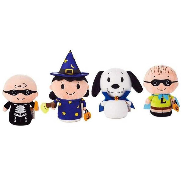 Hallmark :  itty bittys® Peanuts Gang Mystery Bag Halloween Stuffed Plush