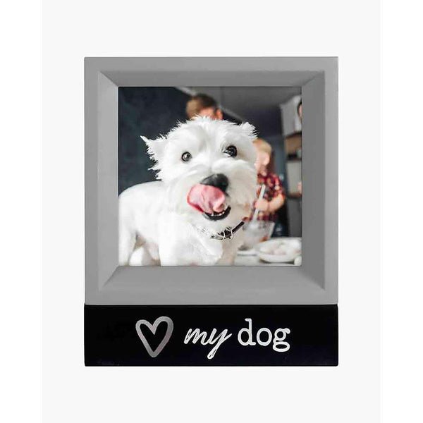 "Malden : ""Love My Dog"" Four Square Frame"
