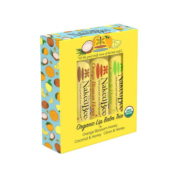 The Naked Bee : Lip Balm Set-of-3 Kit