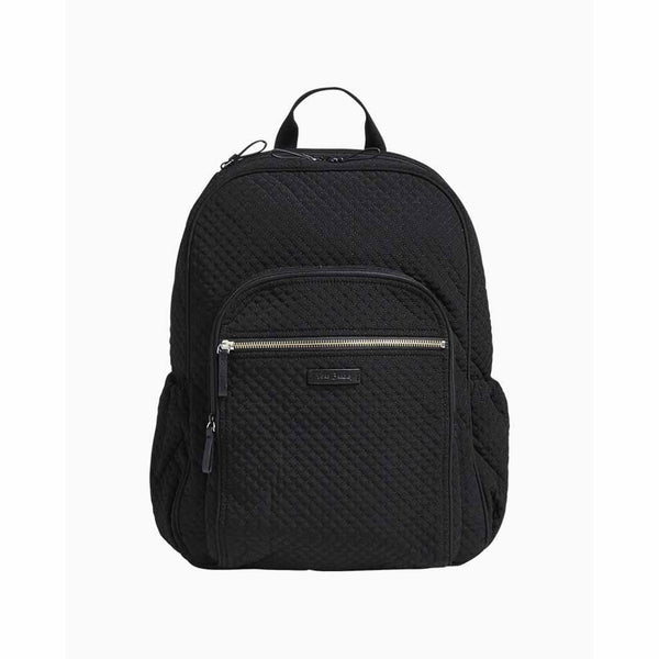 Vera Bradley : Iconic Campus Backpack in Microfiber Classic Black