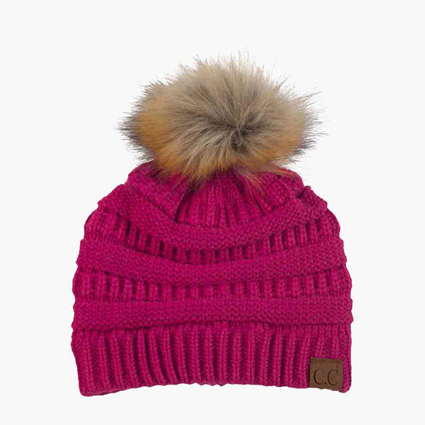 Faux Fur Pom Pom Hat and Scarf - (Sold Separately)