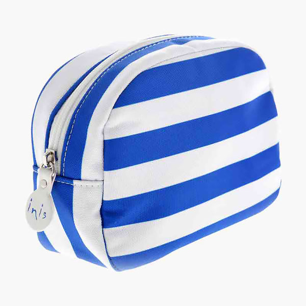 Blue Stripe Cosmetic Pouch