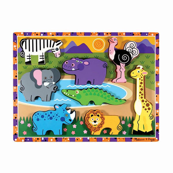 Melissa & Doug : Safari Chunky Puzzle - 8 Pieces
