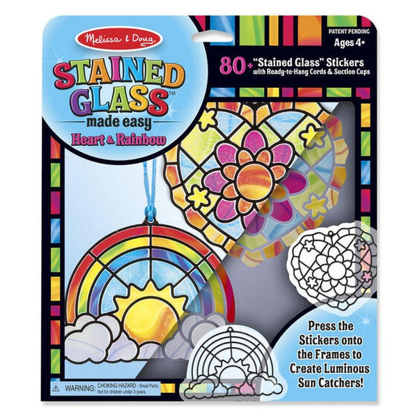 Melissa & Doug : Stained Glass Made Easy - Rainbow & Hearts Ornaments