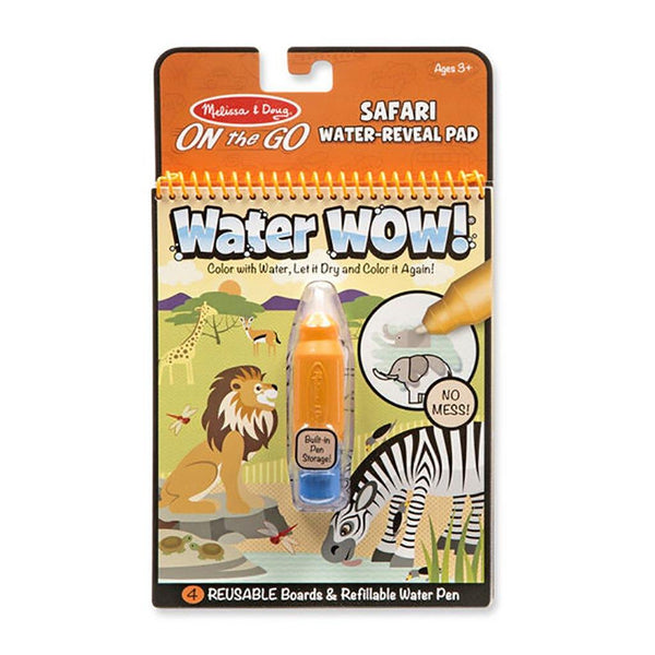 Melissa & Doug : Water Wow! - Safari Water Reveal Pad - ON the GO Travel Activity
