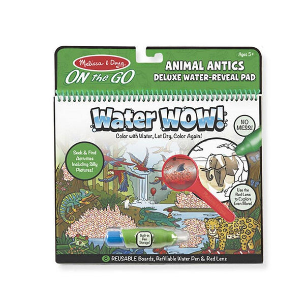 Melissa & Doug : Water Wow! Animal Antics Deluxe Water-Reveal Pad - On the Go Travel Activity