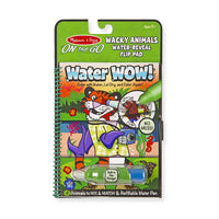 Melissa & Doug : Water Wow! - Wacky Animals Water Reveal Flip Pad - On the Go Travel Activity