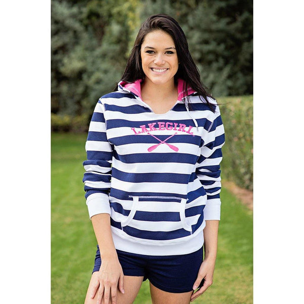 Lake Girl : Lakeside Stripe Hoodie