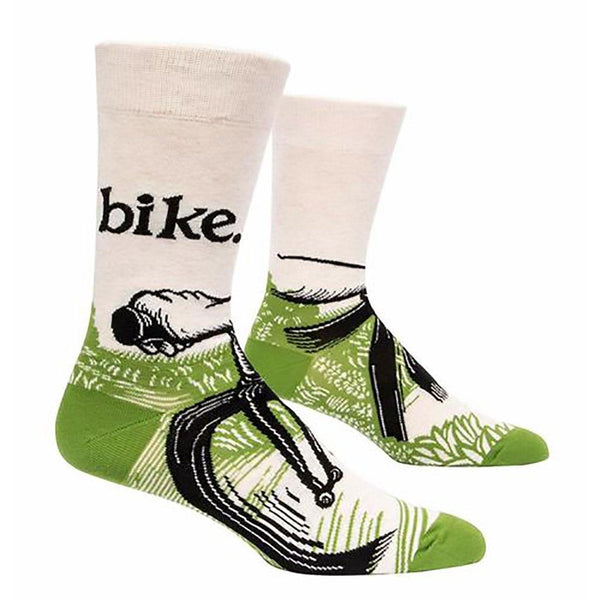 "Blue Q : Men's Crew Socks - ""Bike"""
