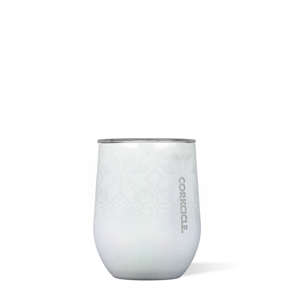 Corkcicle : Stemless Wine Cup in Holiday-Hued White