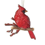 Cardinal On The Branch Ornament