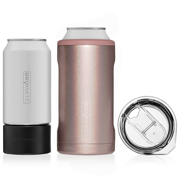 Brumate : Hopsulator Trio 3-In-1 | Glitter Rose Gold (16oz/12oz Cans)