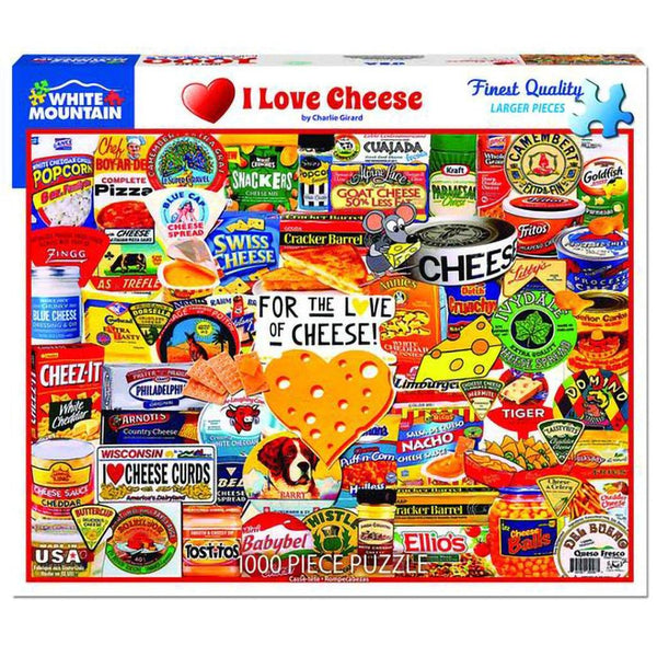 White Mountain : I Love Cheese - 1000 Piece Jigsaw Puzzle