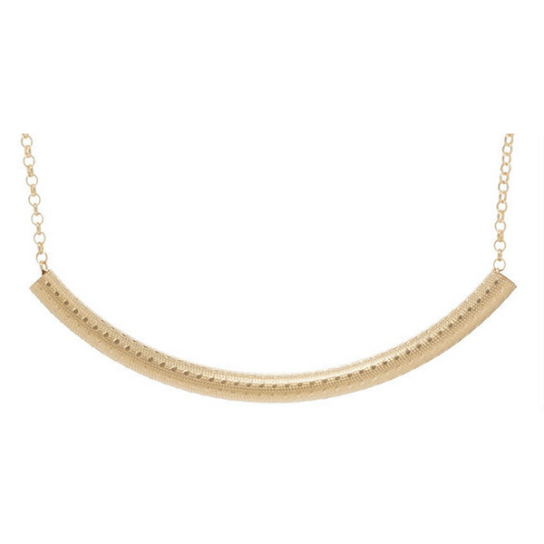 enewton : Bliss Bar Textured Necklace in Gold
