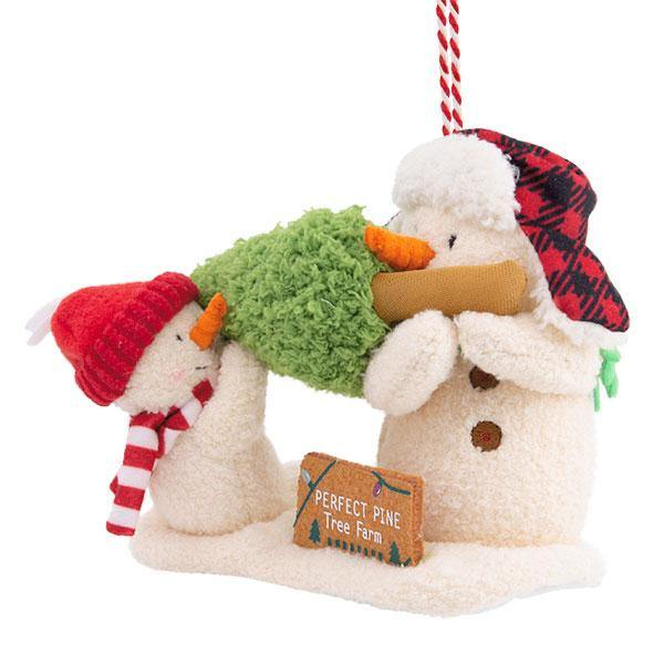 Hallmark : Perfect Tree Snowman Plush Ornament