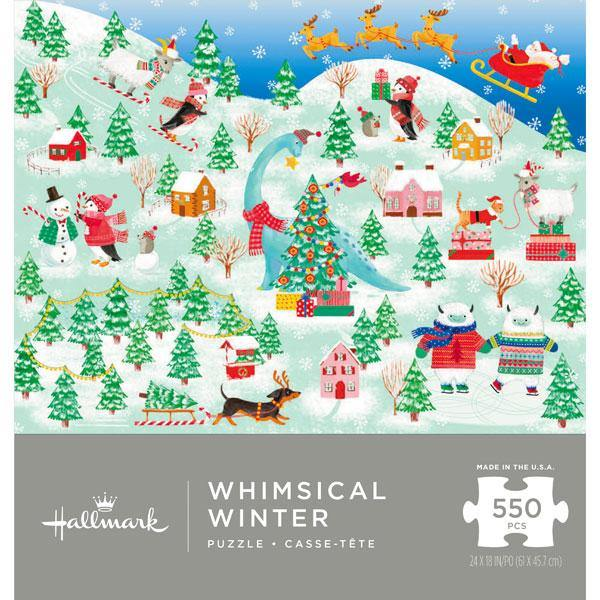 Hallmark : Whimsical Winter Wonderland 550-Piece Puzzle