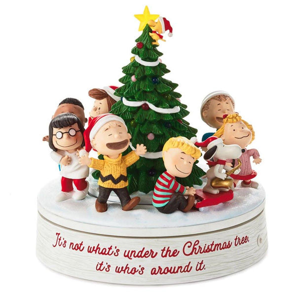 Hallmark : Peanuts® Gang Holiday Musical Tabletop Figurine