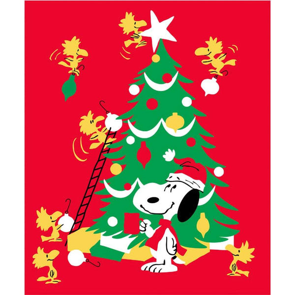 Hallmark : Peanuts® Snoopy and Woodstock Holiday Blanket