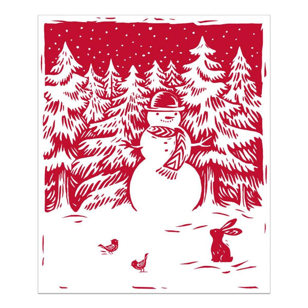 Hallmark : Red and White Snowman Blanket