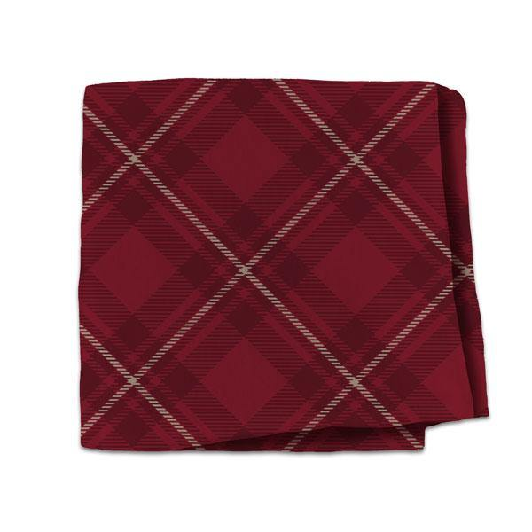 Hallmark : Red Plaid Fleece Blanket