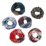 Howard's : Nubby Plaid Infinity Scarf - Assorted 6 colors
