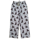 Pet Lover Unisex Pajama Bottoms - Black Labrador