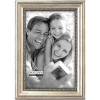 Malden : Classic Wood Picture Frame, 4 by 6-Inch, Silver Bead