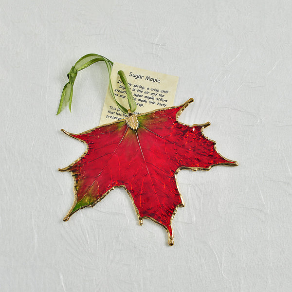 The Rose Lady Iridescent Sugar Maple Leaf Ornament - Annie's Hallmark & Gretchen's Hallmark, Sister Stores