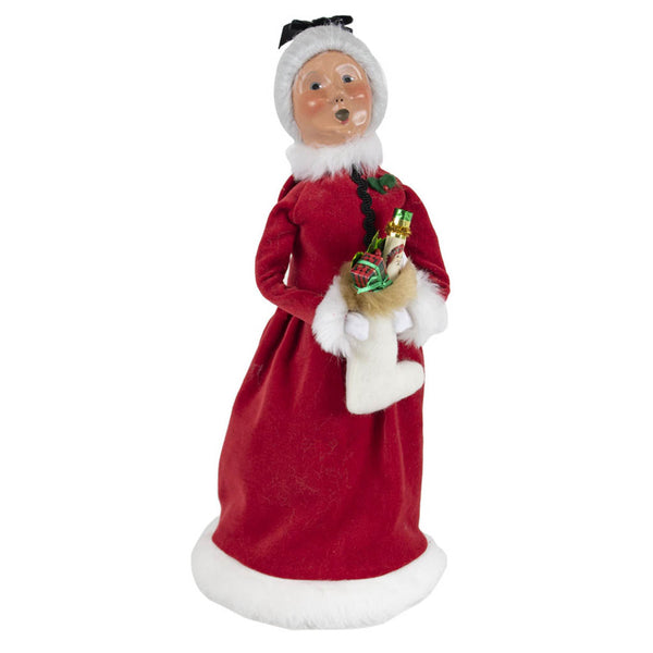 Byers' Choice : Red Velvet Mrs. Claus Figurine